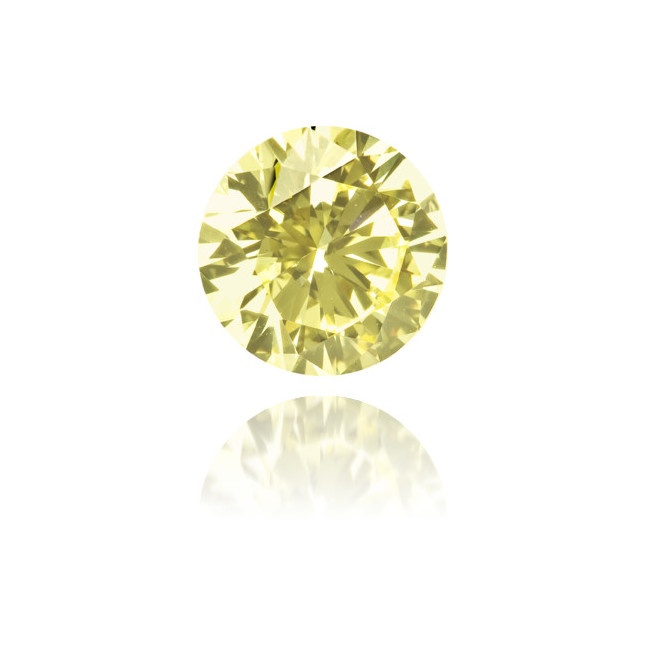 Natural Yellow Diamond Round 0.76 ct Polished