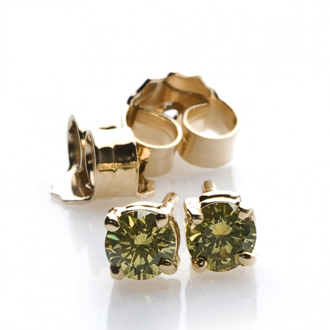 Olive Diamond Earrings