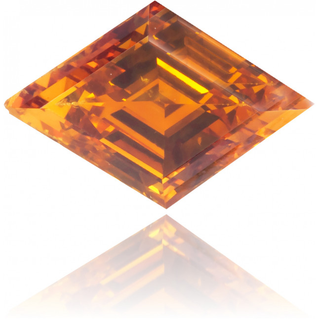 Natural Orange Diamond Kite 0.41 ct Polished
