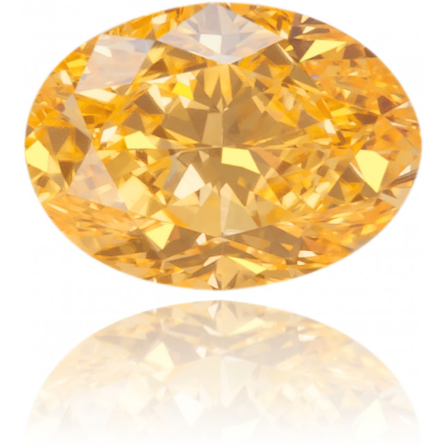 Natural Orange Diamond Oval 0.18 ct Polished