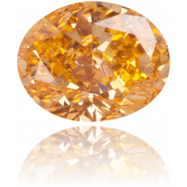 Natural Orange Diamond Oval 0.21 ct Polished