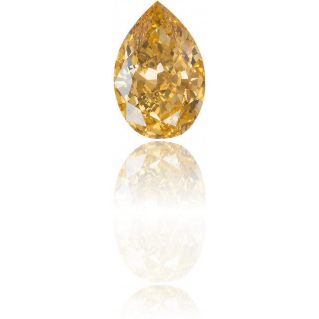 Natural Orange Diamond Pear Shape 0.61 ct Polished