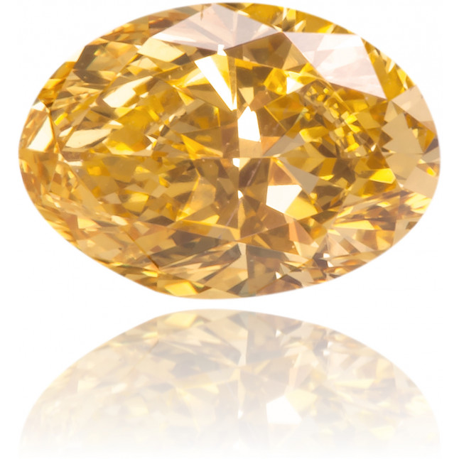 Natural Orange Diamond Oval 0.39 ct Polished