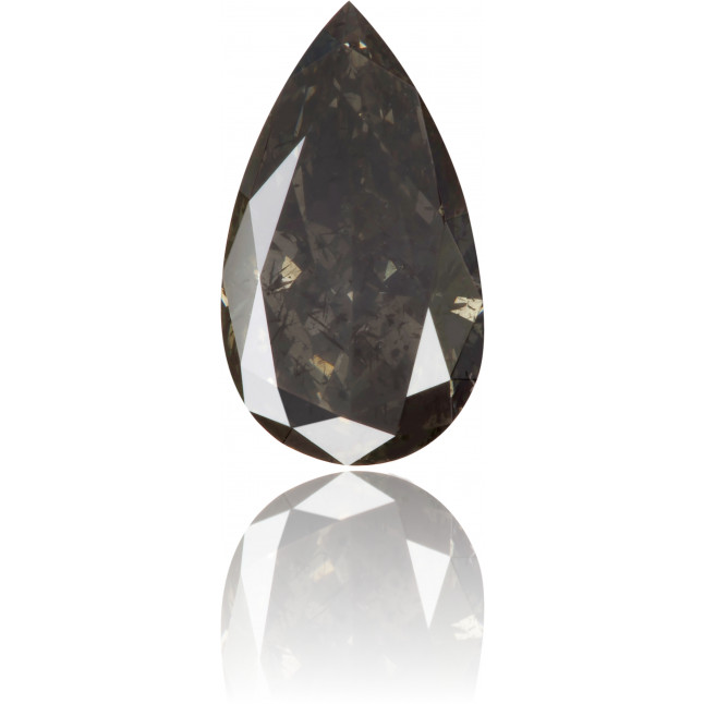 Natural Gray Diamond Pear Shape 0.86 ct Polished