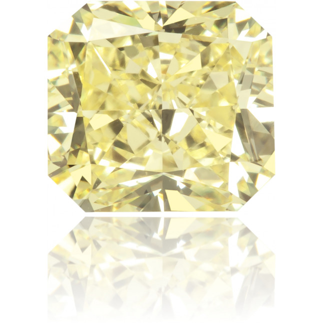 Natural Yellow Diamond Rectangle 0.81 ct Polished