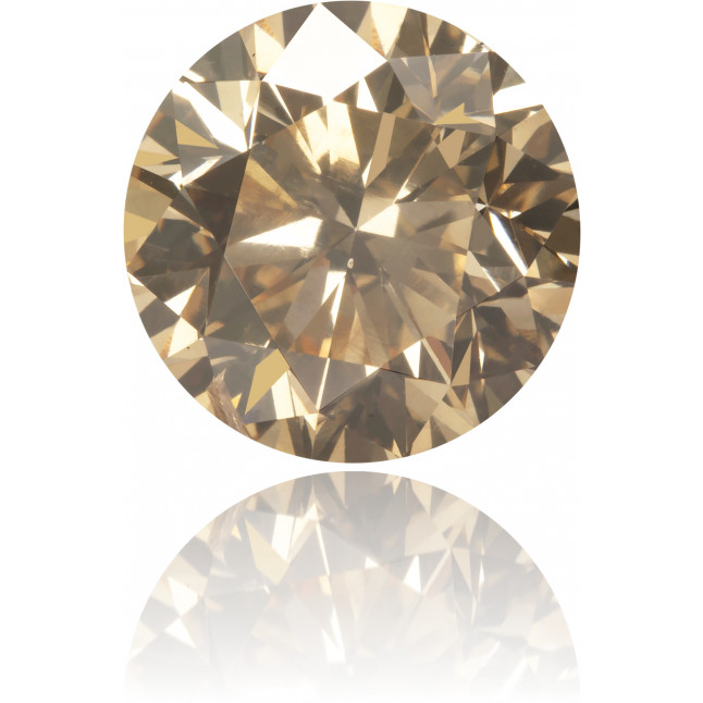 Natural Brown Diamond Round 3.06 ct Polished