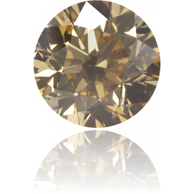 Natural Brown Diamond Round 3.00 ct Polished