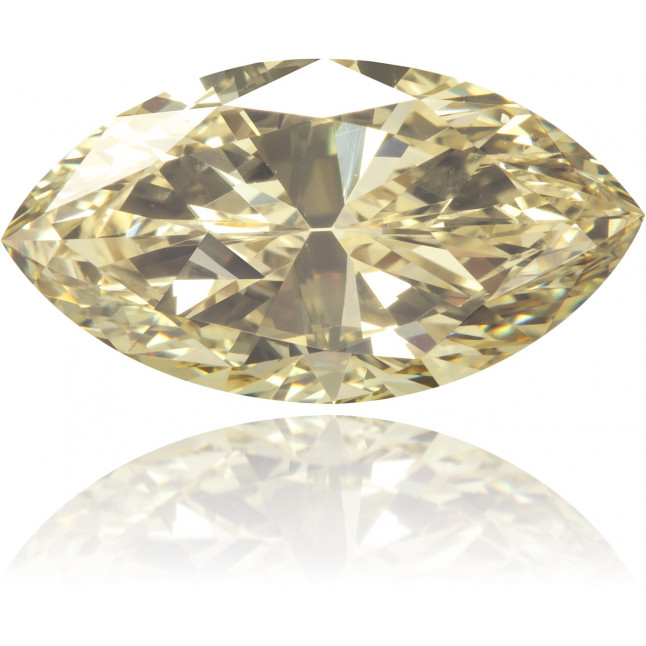 Natural Yellow Diamond Marquise 2.24 ct Polished