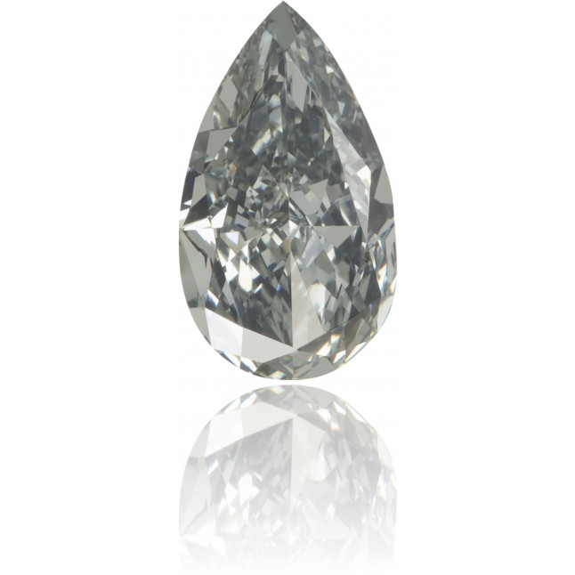 Natural Green Diamond Pear Shape 0.38 ct Polished