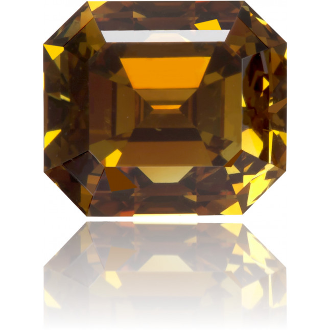 Natural Brown Diamond Rectangle 1.06 ct Polished