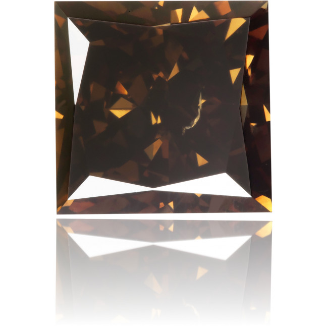 Natural Brown Diamond Square 1.89 ct Polished