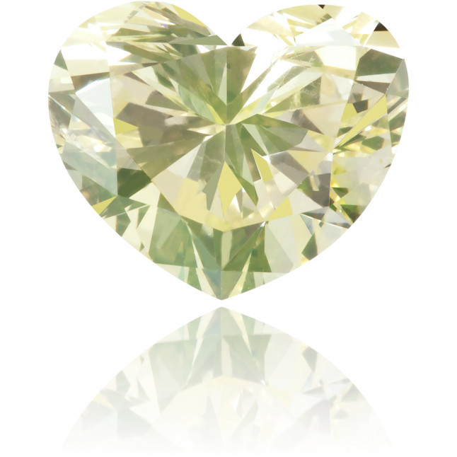 Natural Green Diamond Heart Shape 1.08 ct Polished