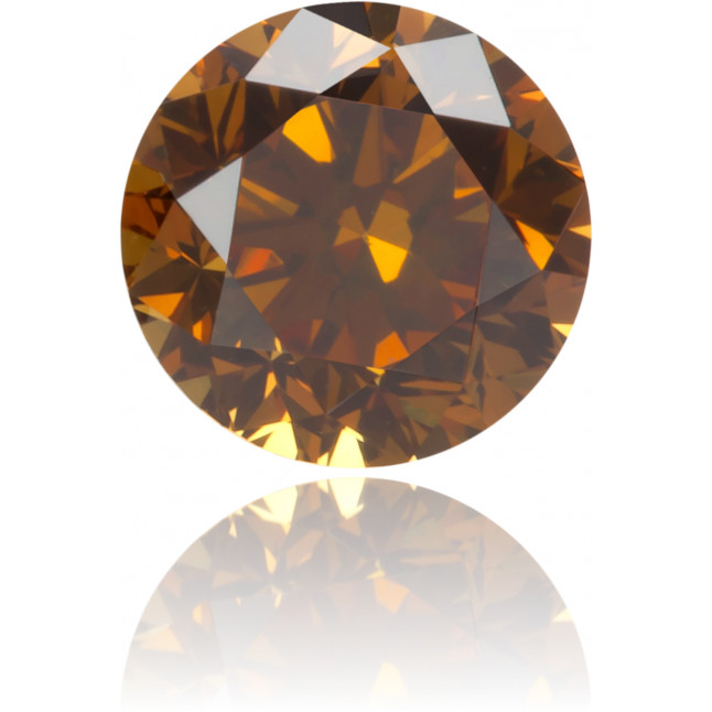 Natural Orange Diamond Round 0.33 ct Polished