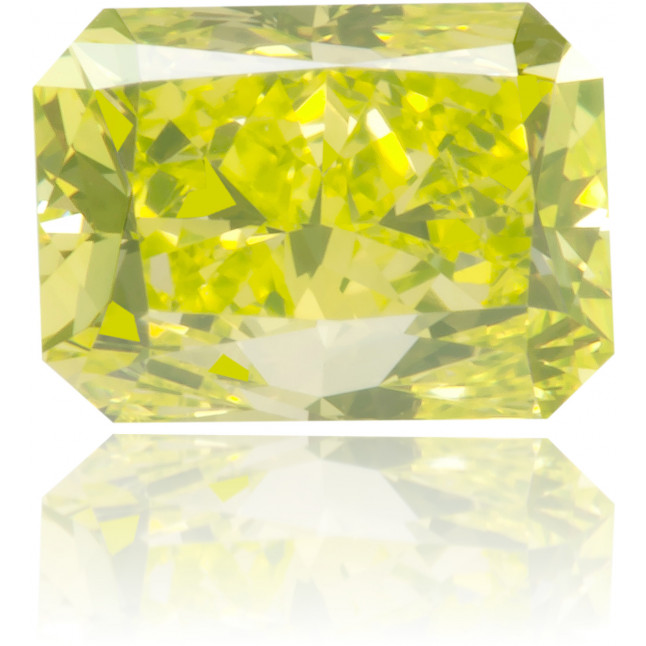 Natural Yellow Diamond Rectangle 0.57 ct Polished