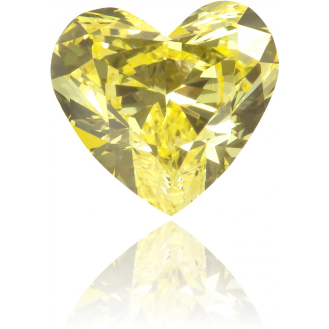 Natural Yellow Diamond Heart Shape 0.55 ct Polished