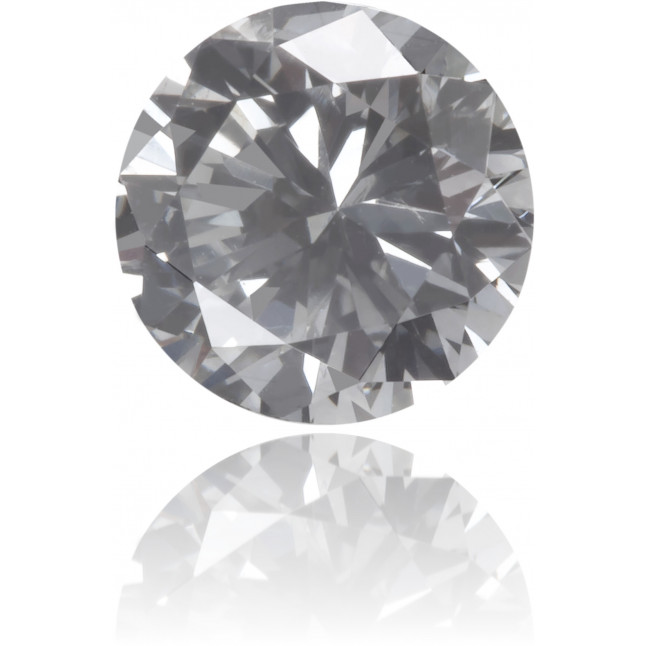 Natural Gray Diamond Round 0.51 ct Polished