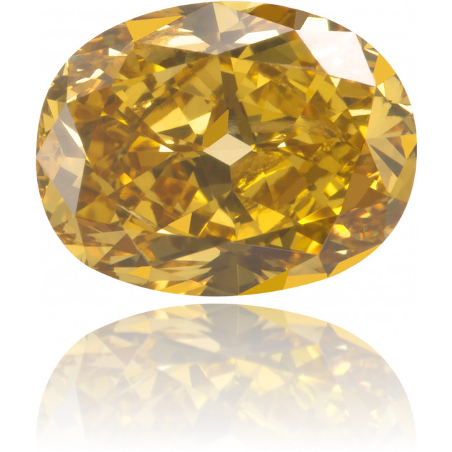 Natural Yellow Diamond Oval 0.95 ct Polished