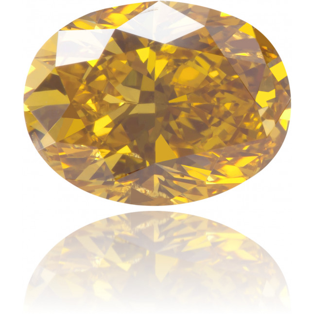 Natural Yellow Diamond Oval 1.01 ct Polished