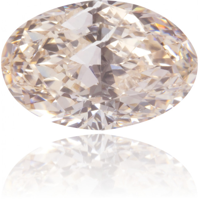Natural Brown Diamond Oval 0.41 ct Polished