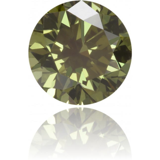 Natural Green Diamond Round 0.18 ct Polished