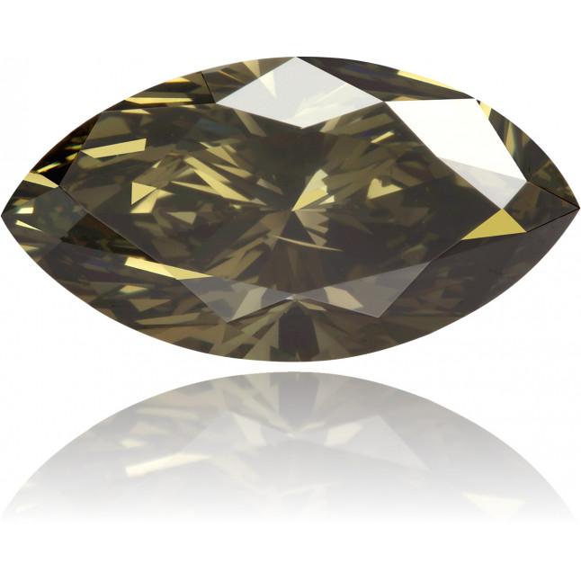 Natural Brown Diamond Marquise 2.18 ct Polished