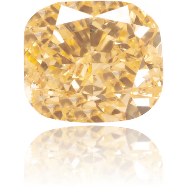 Natural Orange Diamond Cushion 0.39 ct Polished
