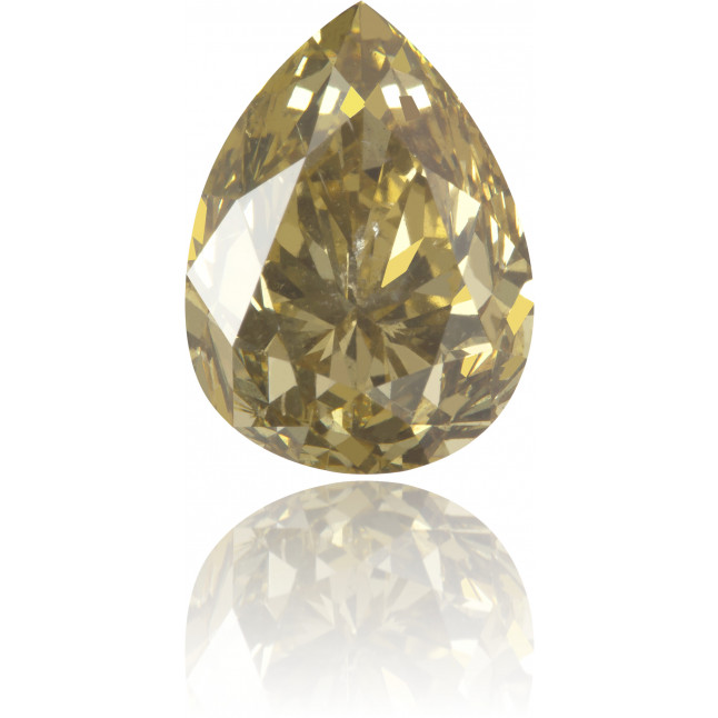 Natural Green Diamond Pear Shape 3.89 ct Polished
