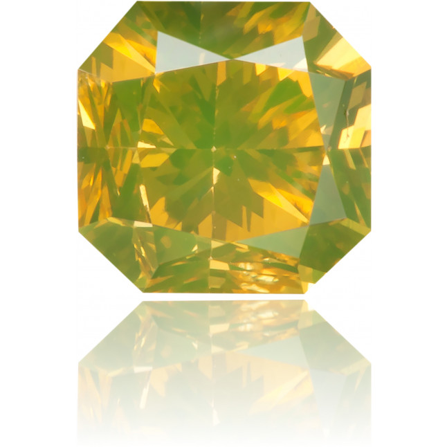 Natural Green Diamond Square 0.73 ct Polished