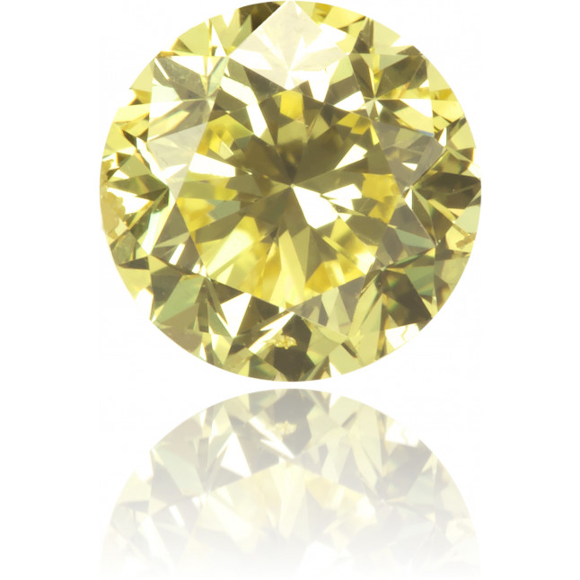 Natural Yellow Diamond Round 0.68 ct Polished