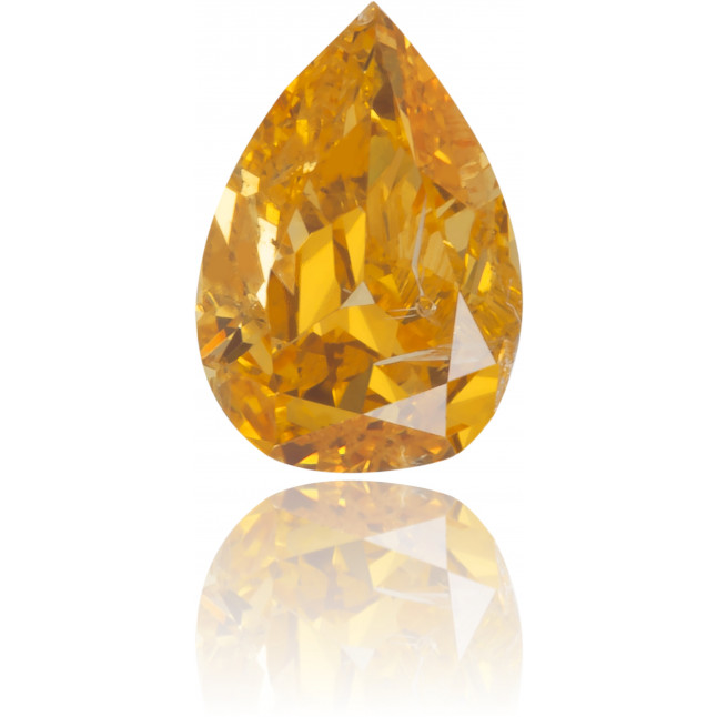 Natural Orange Diamond Pear Shape 0.24 ct Polished