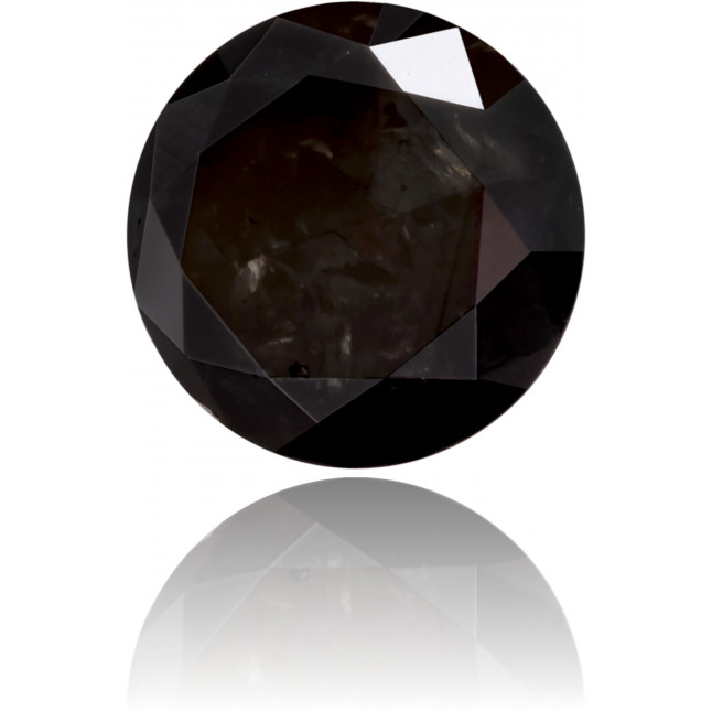 Natural Black Diamond Round 0.48 ct Polished