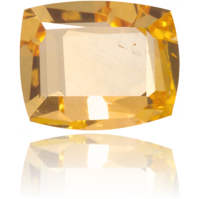 Natural Orange Diamond Rectangle 0.18 ct Polished