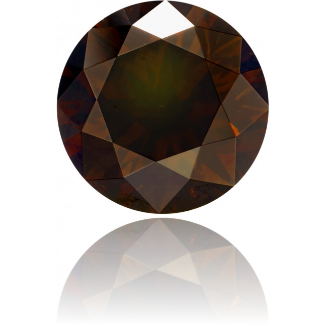 Natural Brown Diamond Round 2.05 ct Polished