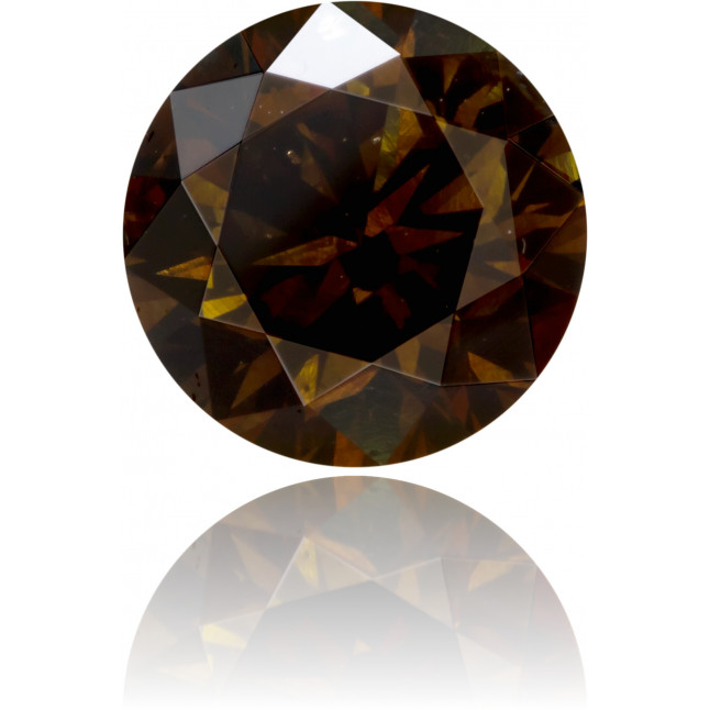 Natural Brown Diamond Round 2.03 ct Polished