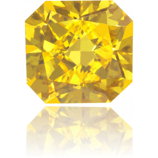 Natural Yellow Diamond Square 0.67 ct Polished