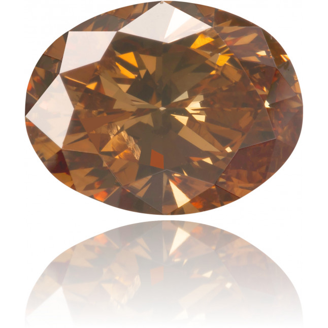 Natural Brown Diamond Oval 1.00 ct Polished