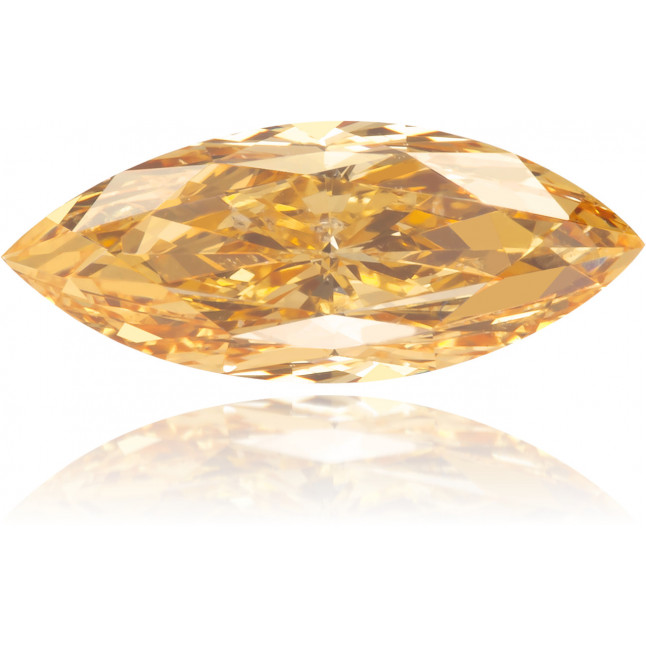 Natural Orange Diamond Marquise 0.60 ct Polished