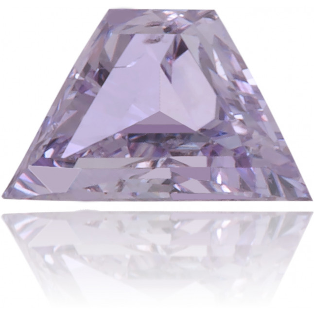 Natural Purple Diamond Trapeze 0.09 ct Polished