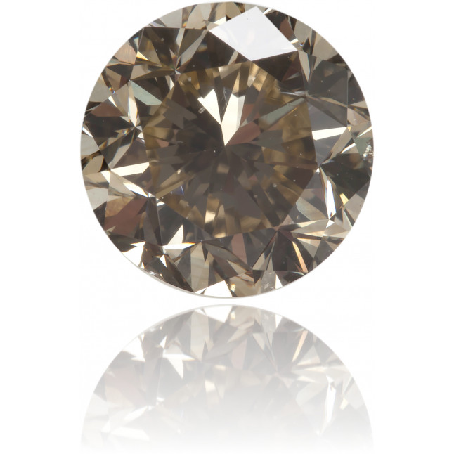 Natural Brown Diamond Round 3.02 ct Polished