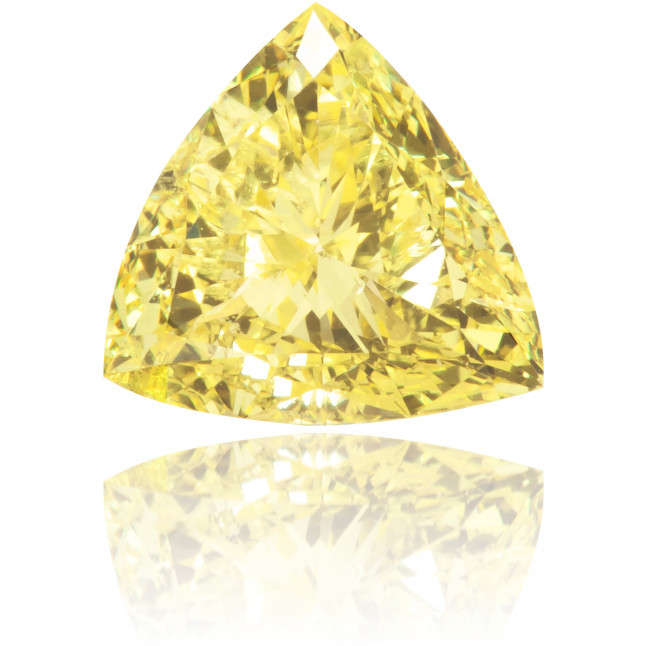 Natural Yellow Diamond Triangle 0.53 ct Polished