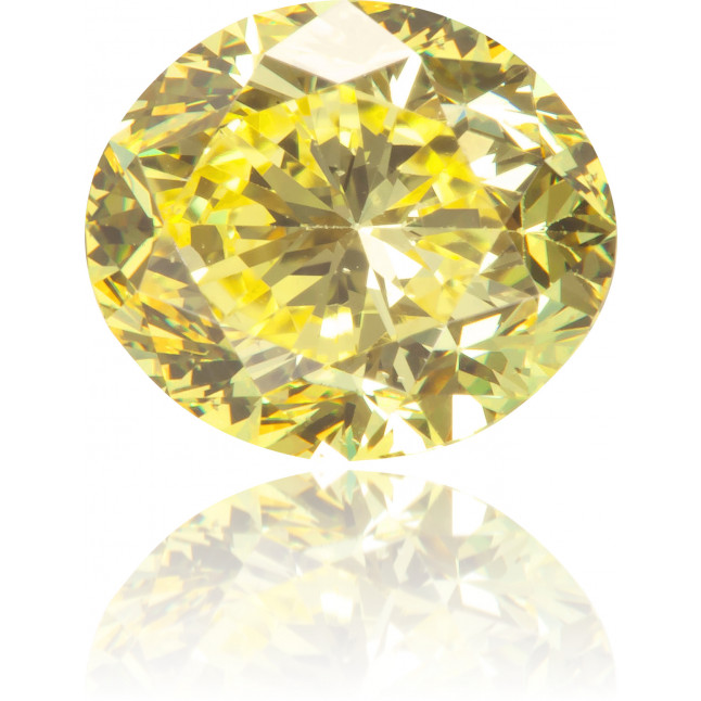 Natural Yellow Diamond Oval 1.11 ct Polished