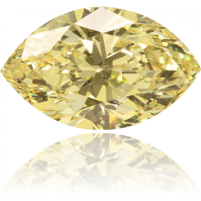 Natural Yellow Diamond Marquise 0.48 ct Polished