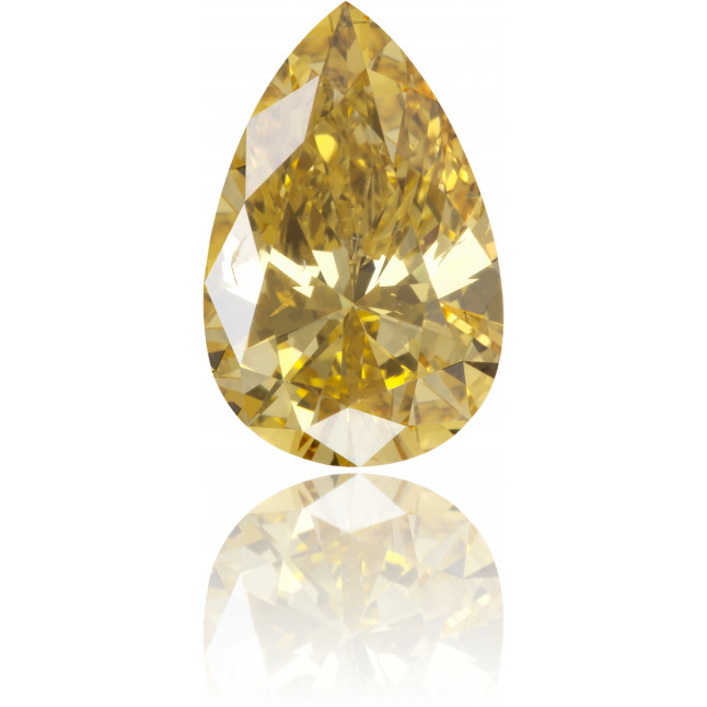 Natural Yellow Diamond Pear Shape 0.76 ct Polished
