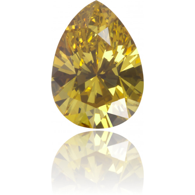 Natural Yellow Diamond Pear Shape 0.65 ct Polished