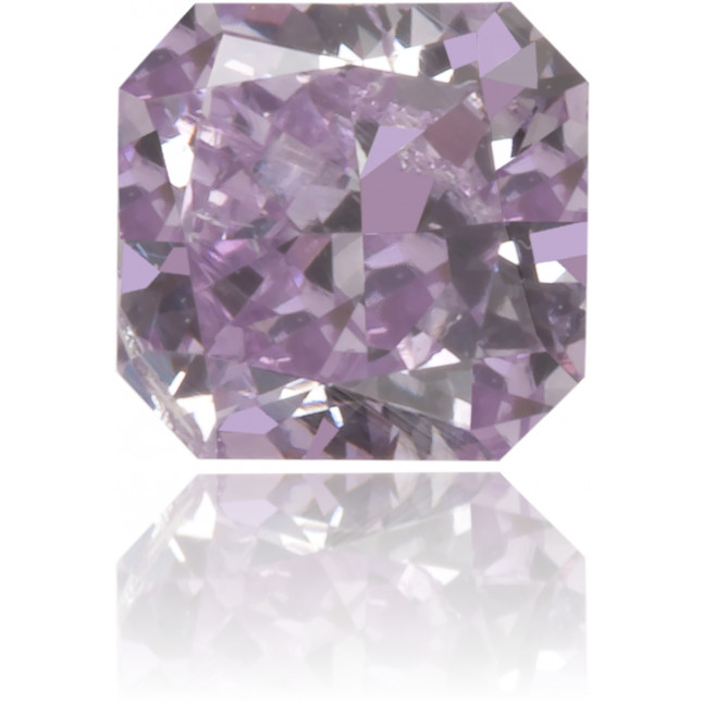 Natural Purple Diamond Square 0.20 ct Polished