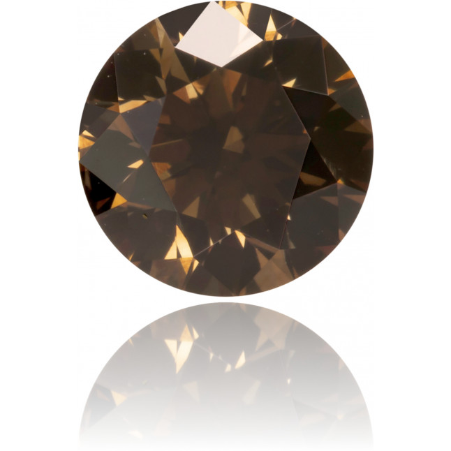 Natural Brown Diamond Round 0.62 ct Polished
