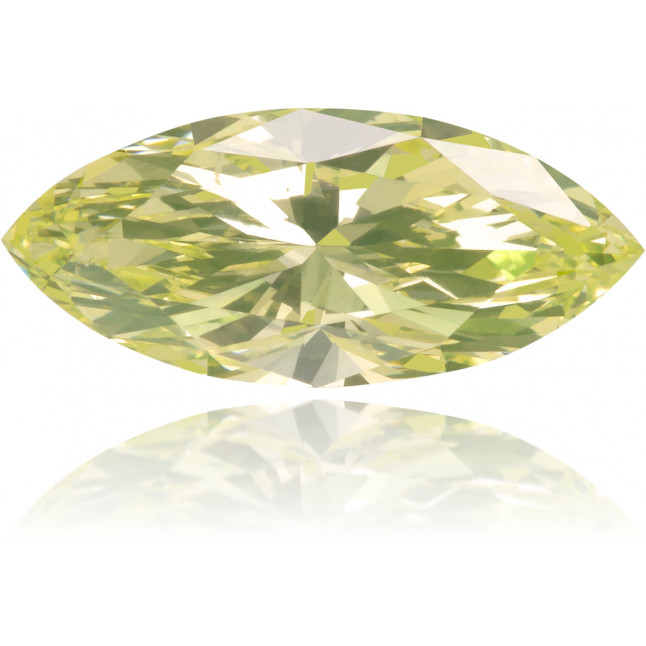 Natural Yellow Diamond Marquise 0.64 ct Polished