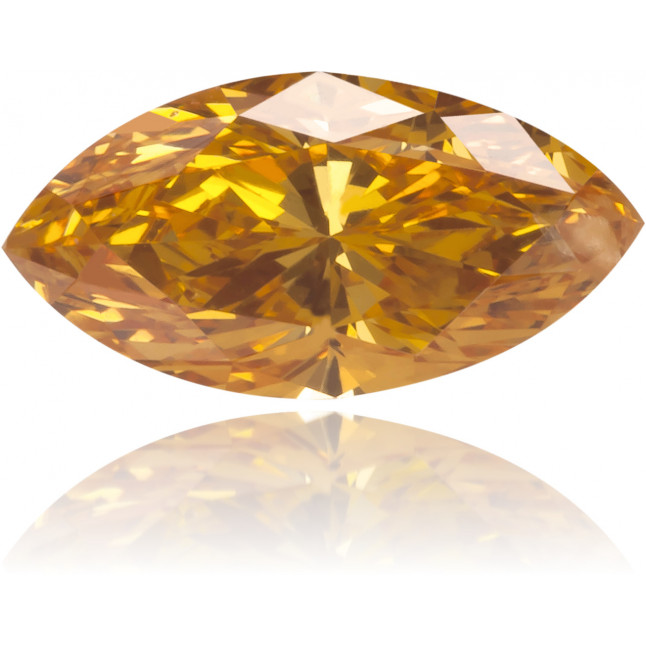 Natural Orange Diamond Marquise 0.36 ct Polished