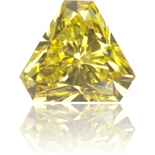 Natural Yellow Diamond Triangle 0.66 ct Polished