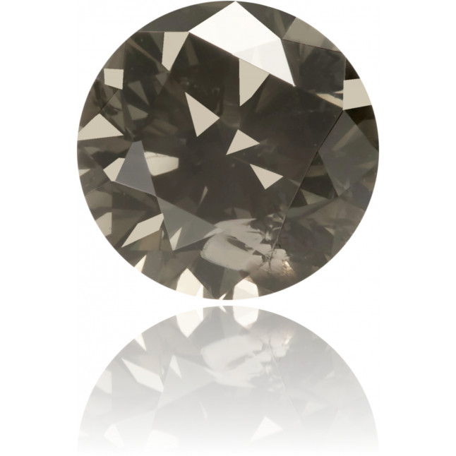 Natural Gray Diamond Round 0.43 ct Polished